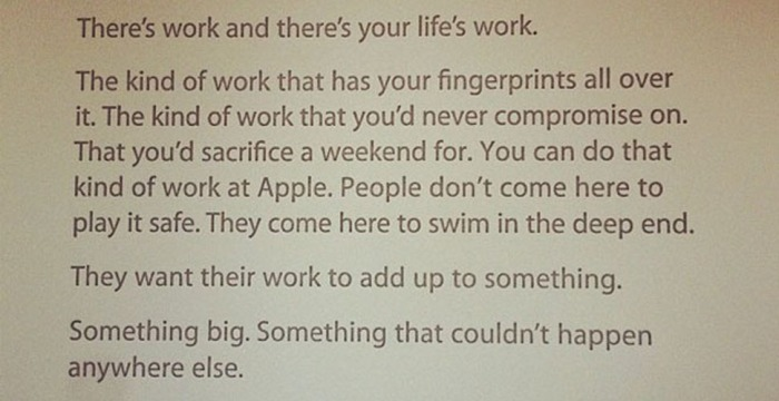 Photo: Apple note to all new employees